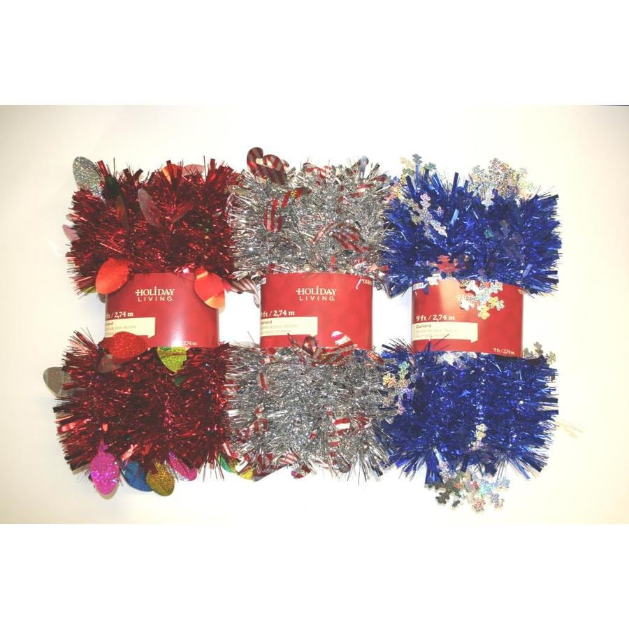 Holiday Living 4-in x 9-ft Tinsel Artificial Christmas Garland