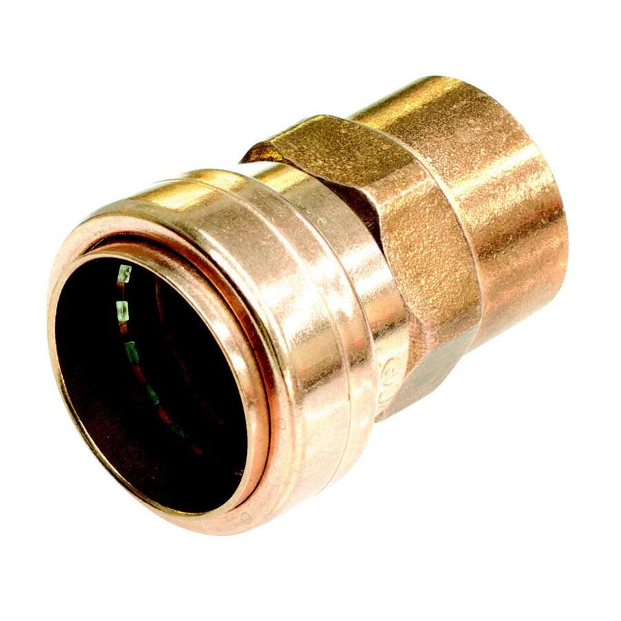 Mueller Proline 1/2-in x 1/2-in x 1/2-in Copper Push-Fit Adapter Fitting