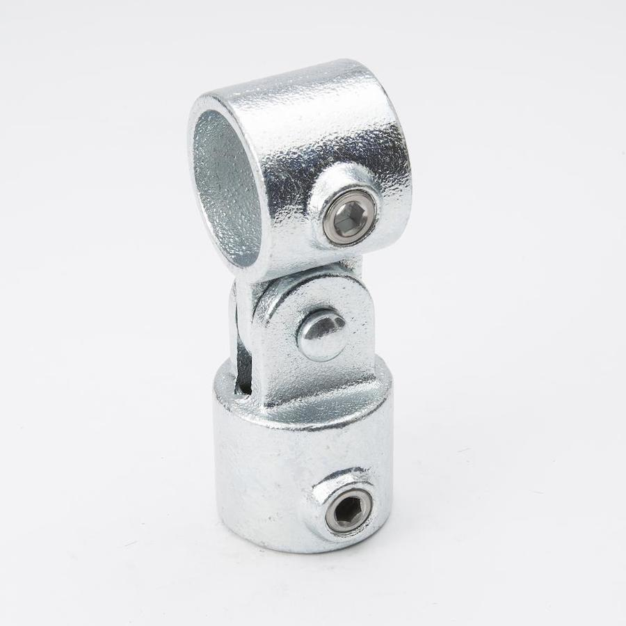 B&K 1-1/4-in x 1-1/4-in 90-Degree Gray Galvanized Steel Structural Pipe Fitting Swivel Socket