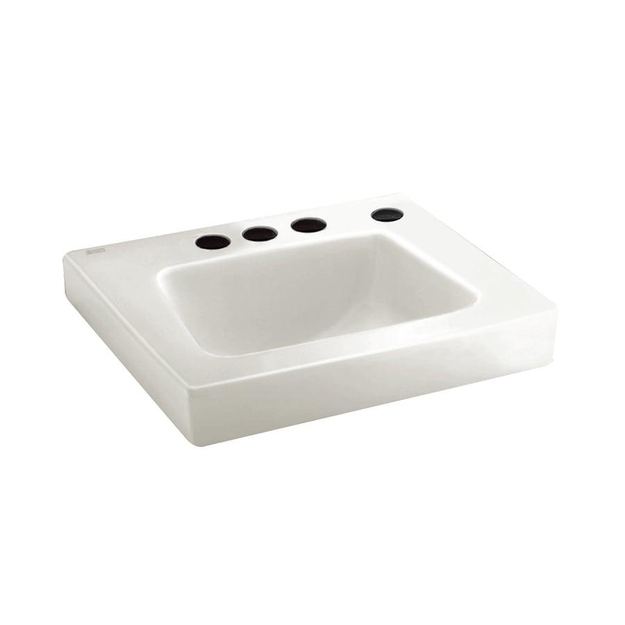 American Standard Roxalyn White Wall-Mount Rectangular Bathroom Sink with Overflow