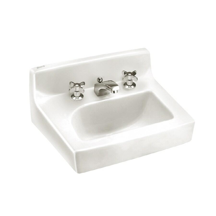 American Standard Penlyn White Wall-Mount Rectangular Bathroom Sink with Overflow