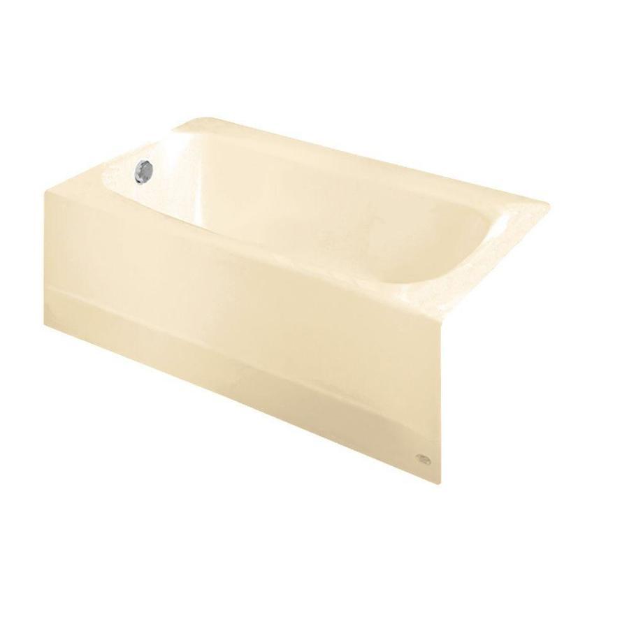 American Standard Cambridge Reinforced Porcelain Enamel/Metal Rectangular Skirted Bathtub with Left-Hand Drain (Common: 32-in x 60-in; Actual: 17.75-in x 32-in x 60-in)