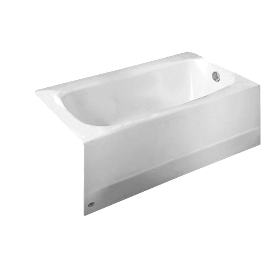 Cambridge Reinforced Porcelain Enamel/Metal Rectangular Skirted Bathtub with Right-Hand Drain (Common: 32-in x 60-in; Actual: 17.75-in x 32-in x 60-in) Product Photo