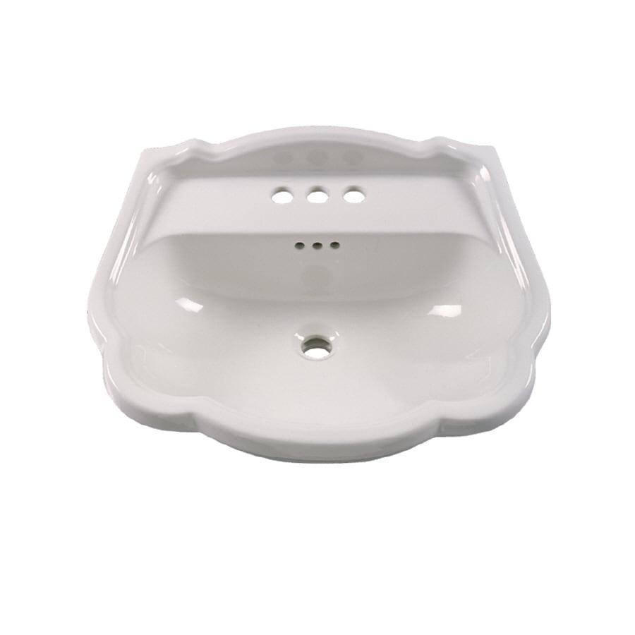 American Standard 24-3/4-in L x 12-in W Vitreous China Pedestal Sink ...