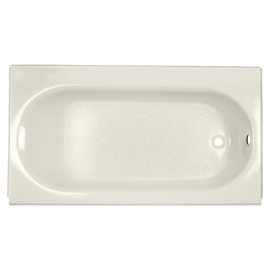 American Standard Princeton Porcelain Enameled Steel Rectangular Skirted Bathtub with Right-Hand Drain (Common: 34-in x 60-in; Actual: 14-in x 34-in x 60-in)