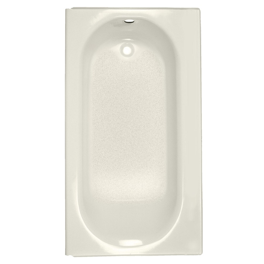 American Standard Princeton Porcelain Enameled Steel Rectangular Skirted Bathtub with Left-Hand Drain (Common: 34-in x 60-in; Actual: 14-in x 34-in x 60-in)