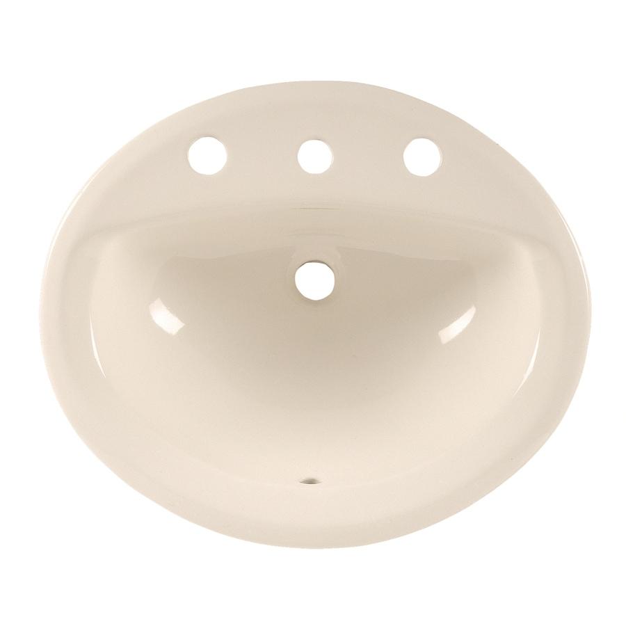 American Standard Aqualyn Linen Drop-In Oval Bathroom Sink with Overflow