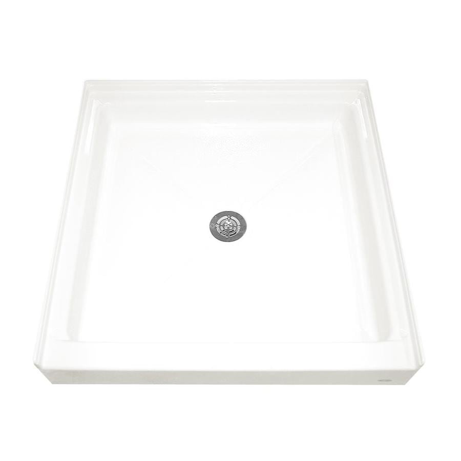 American Standard White Acrylic Shower Base (Common: 36-in W x 36-in L; Actual: 36.1875-in W x 36-in L)