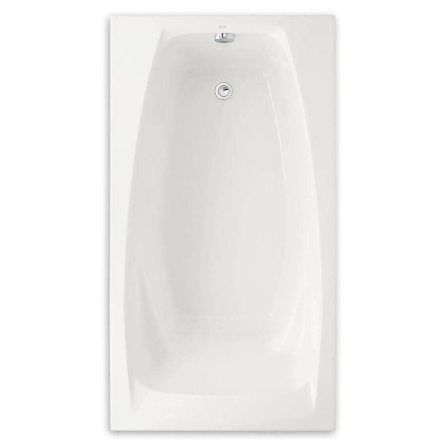 American Standard Colony Acrylic Rectangular Drop-in Bathtub with Reversible Drain (Common: 33-in x 60-in; Actual: 19.75-in x 32.75-in x 60-in)