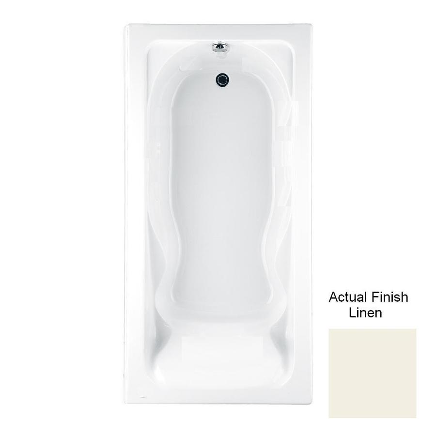 American Standard Cadet Acrylic Hourglass In Rectangle Drop-in Bathtub with Reversible Drain (Common: 36-in x 72-in; Actual: 19.75-in x 35.75-in x 72-in)
