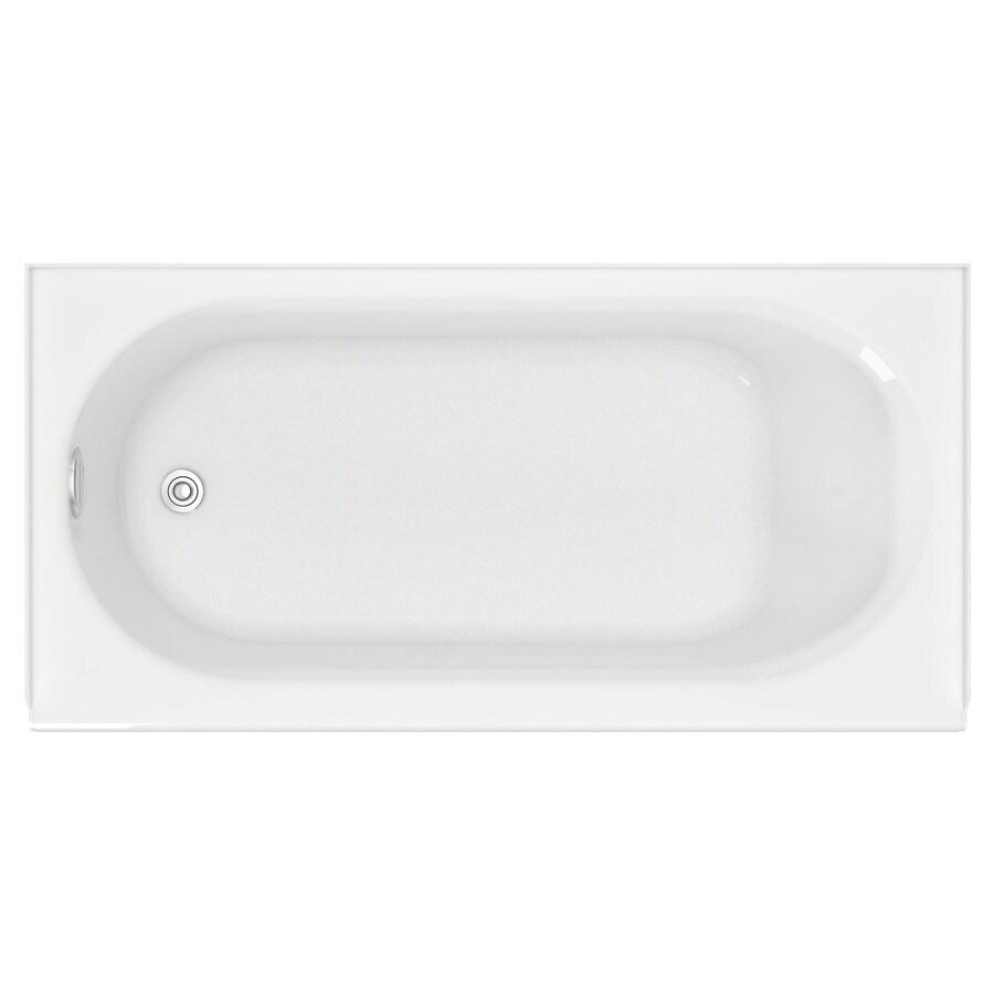 American Standard Princeton Porcelain Enameled Steel Rectangular Skirted Bathtub with Left-Hand Drain (Common: 30-in x 60-in; Actual: 17.5-in x 30-in x 60-in)
