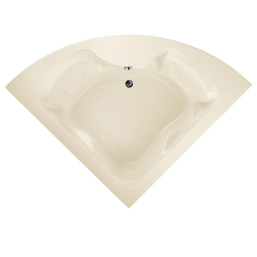 American Standard Cadet Acrylic Corner Drop-in Bathtub with Center Drain (Common: 60-in x 85-in; Actual: 19.75-in x 60-in x 85-in)