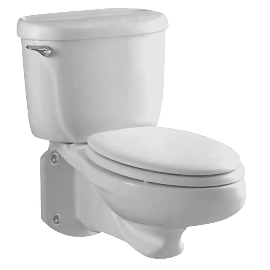 American Standard Glenwall White 1.6-GPF (6.06-LPF) 12 Rough-In Elongated Pressure Assist 2-Piece Custom Height Rear Outlet Toilet