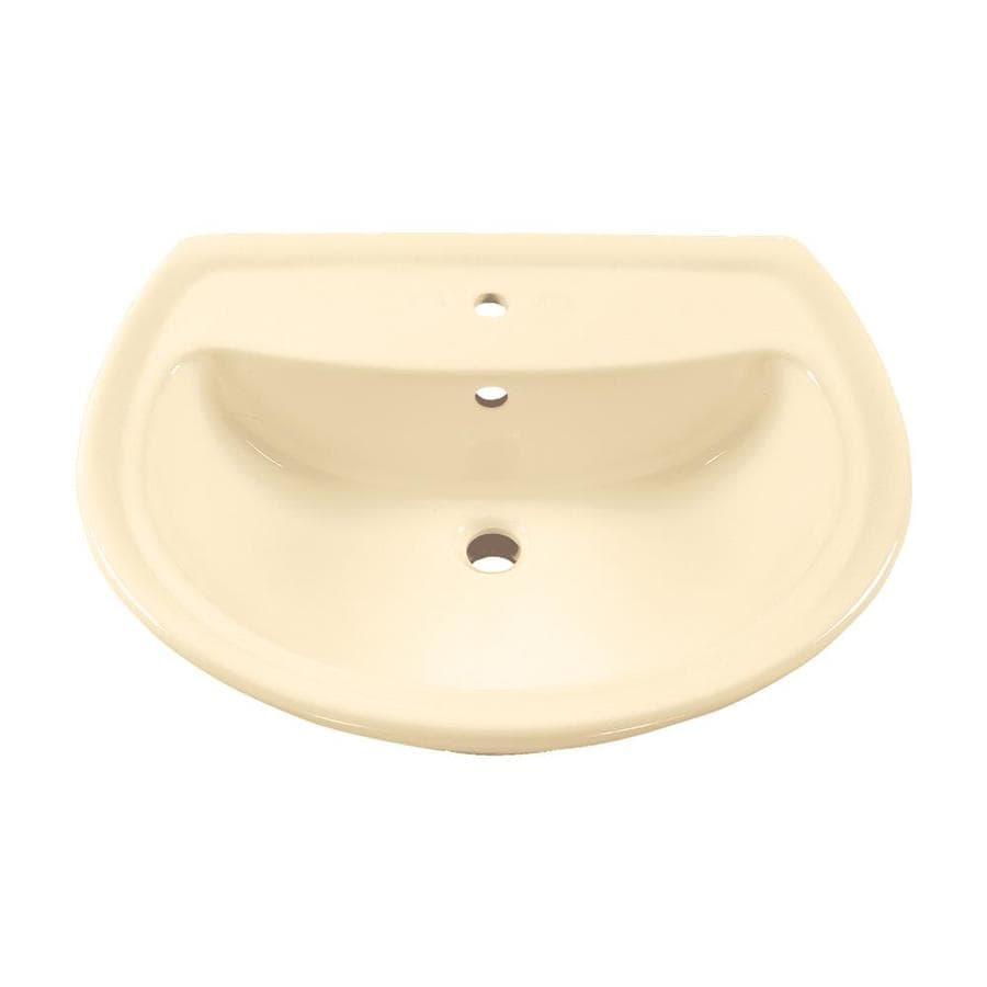 American Standard Cadet 25.25-in L x 21.5-in W Bone Vitreous China Oval Pedestal Sink Top