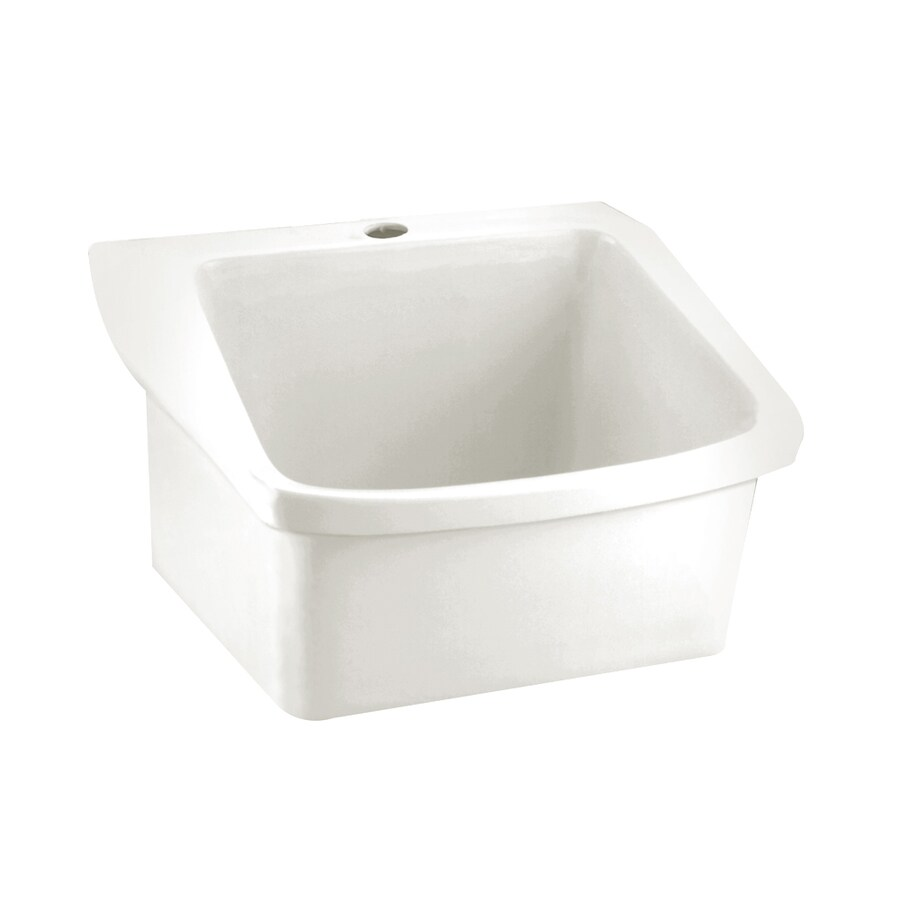 American Standard Surgeon's White Wall-Mount Rectangular Bathroom Sink with Overflow