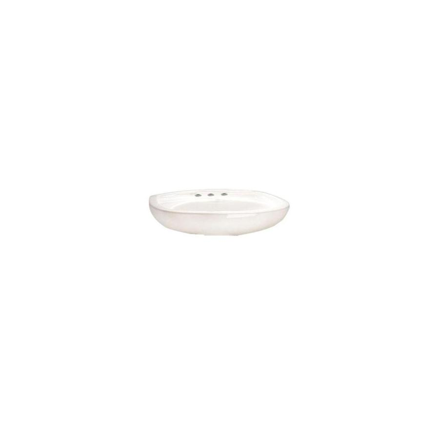 American Standard 18-1/2-in L x 21-1/4-in W Colony White Vitreous China Oval Pedestal Sink Top