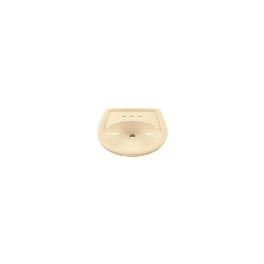 American Standard 18-1/2-in L x 21-1/4-in W Colony Bone Vitreous China Oval Pedestal Sink Top