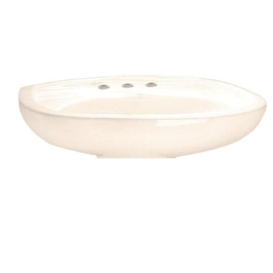 American Standard 21-1/4-in L x 18-1/2-in W Colony Linen Vitreous China Oval Pedestal Sink Top