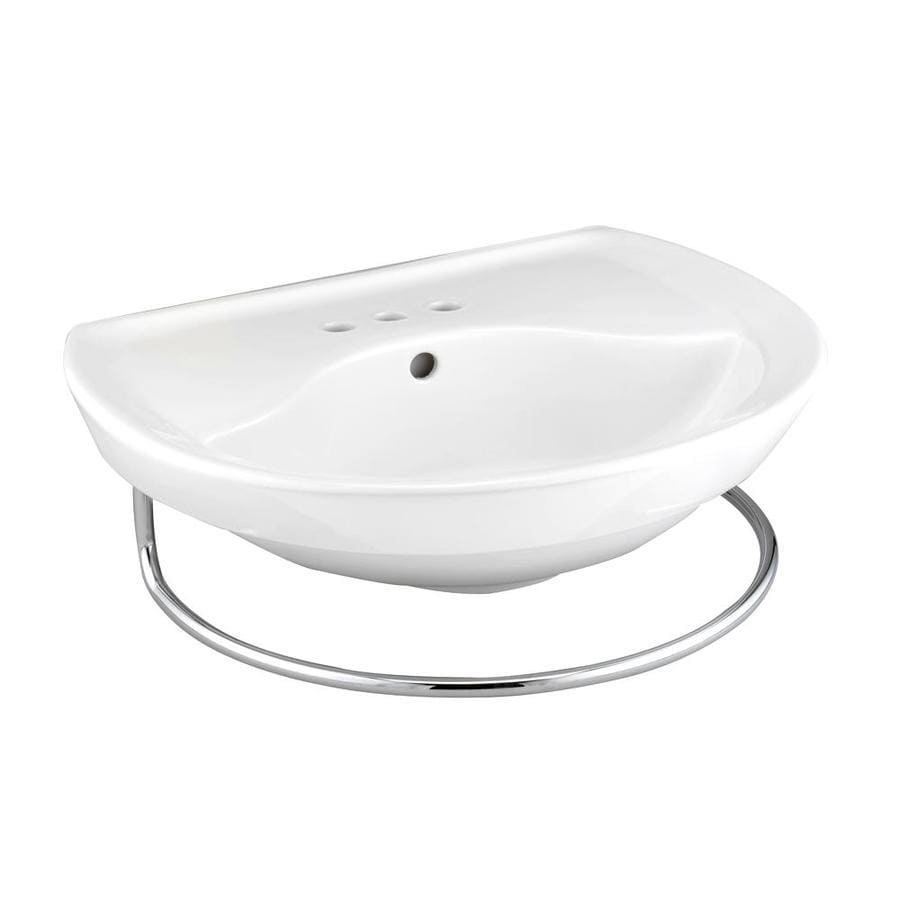 American Standard Ravenna 25.75-in L x 21.06-in W White Vitreous China Oval Pedestal Sink Top