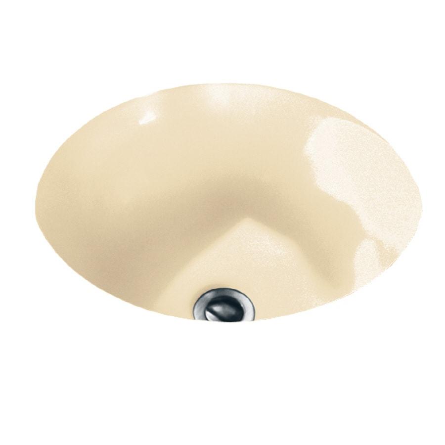 American Standard Orbit Bone Undermount Round Bathroom Sink with Overflow
