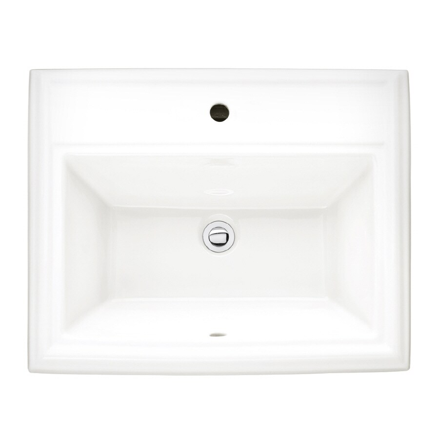 Shop American Standard Town Square White Fire Clay Drop In Rectangular Bathroom Sink With