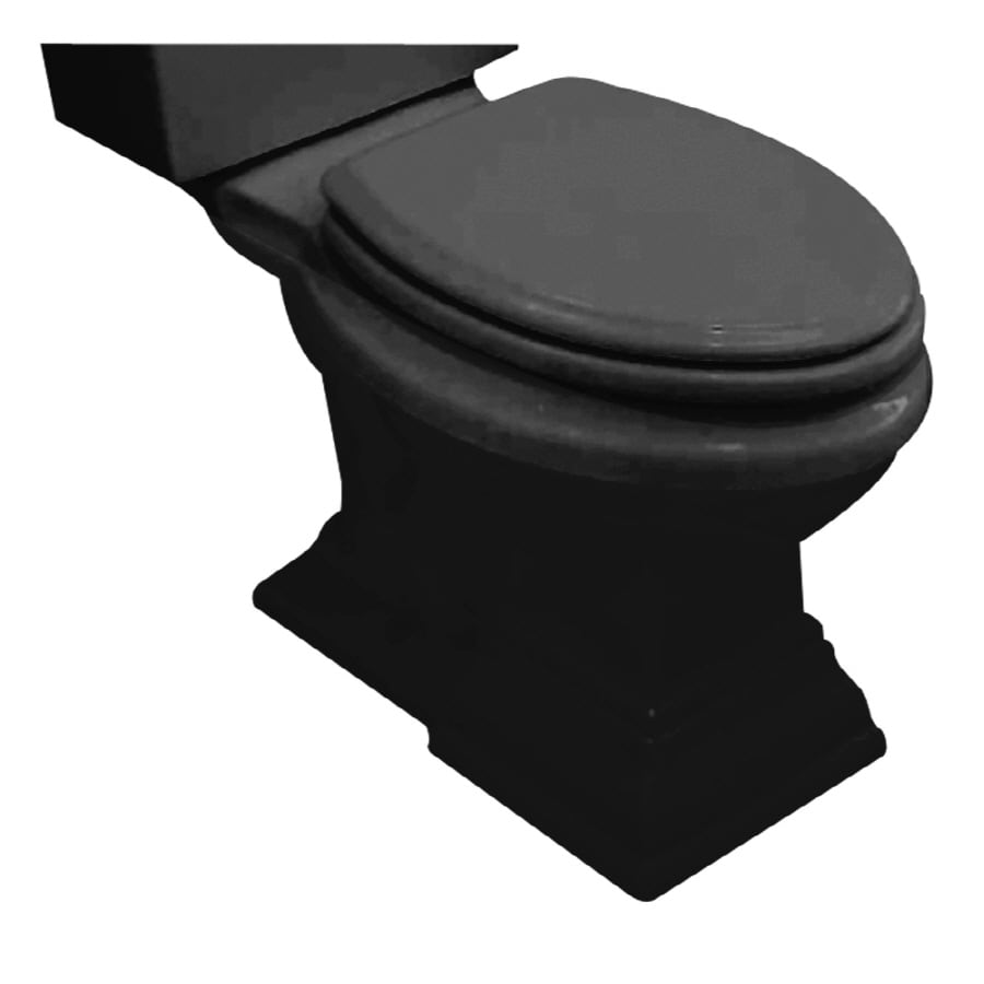 American Standard Town Square Chair Height Black 12-in Rough-In Elongated Toilet Bowl
