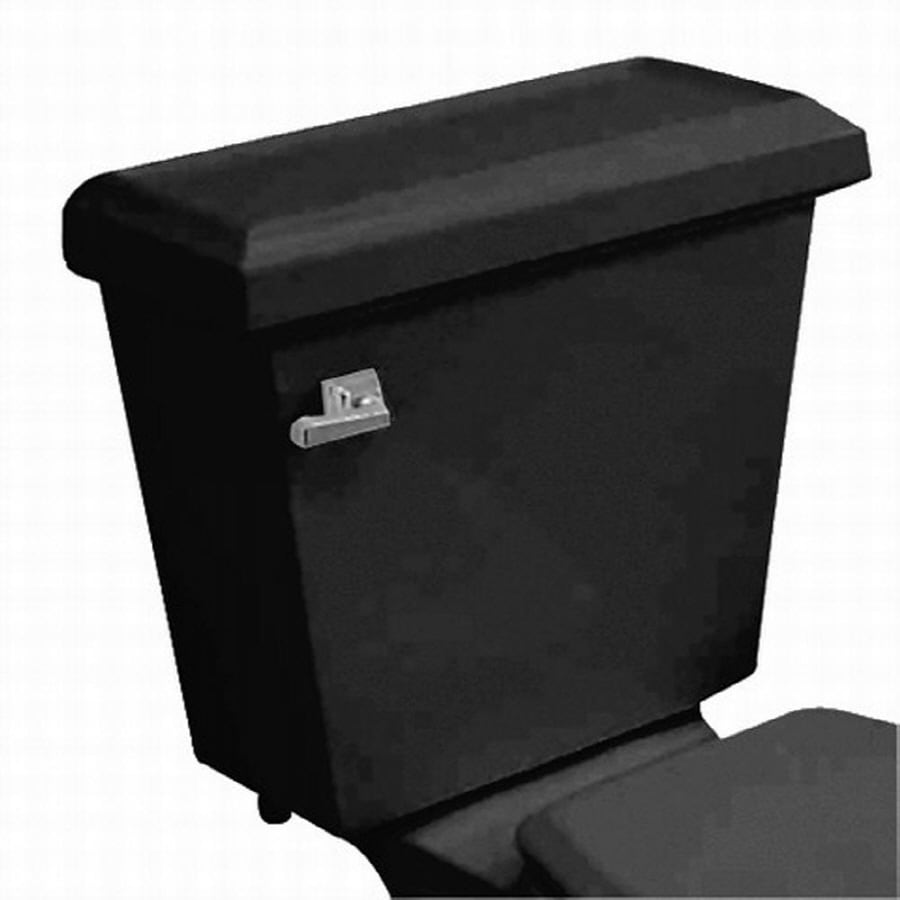 American Standard Town Square Black 1.6-GPF (6.06-LPF) 12-in Rough-In Single-Flush Toilet Tank