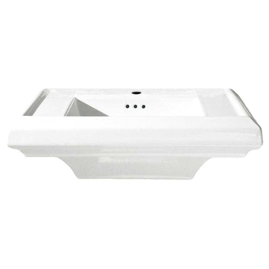 American Standard Town Square 25-in L x 10.37-in W White Fire Clay Rectangular Pedestal Sink Top