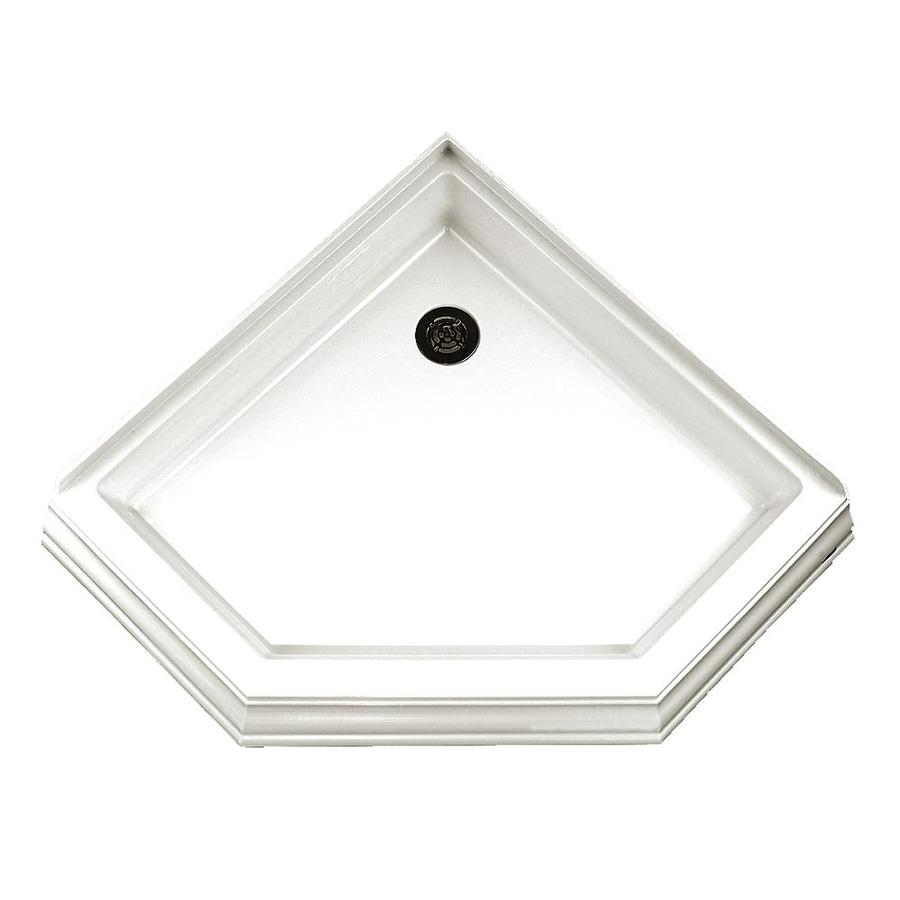 American Standard Town Square 38-in L x 38-in W White Acrylic Neo-Angle Corner Shower Base