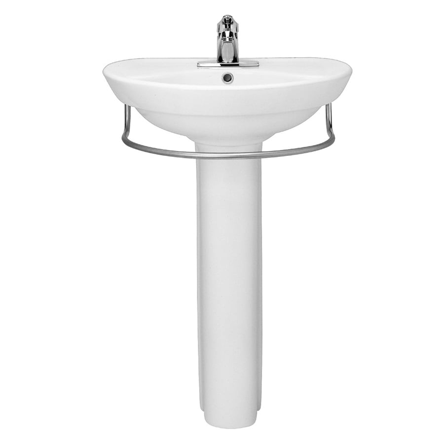 Shop American Standard Ravenna 34-in H White Vitreous China Pedestal ...
