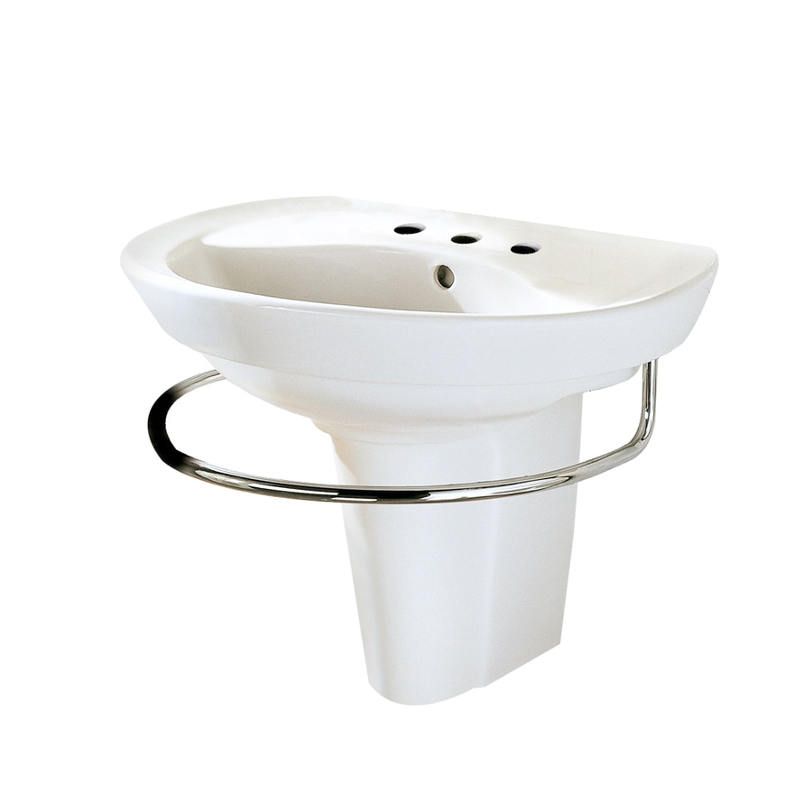 American Standard Ravenna White Wall-Mount Rectangular Bathroom Sink with Overflow