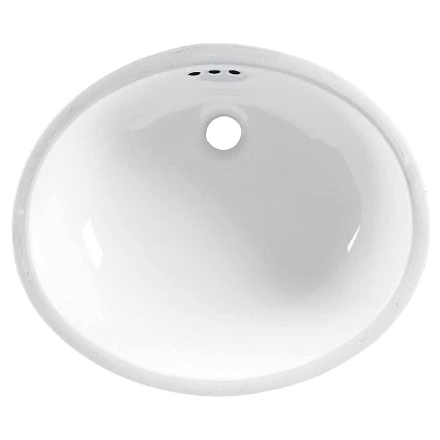 American Standard Ovalyn White Undermount Oval Bathroom Sink with Overflow