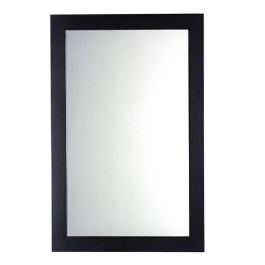 American Standard 34-in H x 22-in W Cardiff Espresso Rectangular Bathroom Mirror