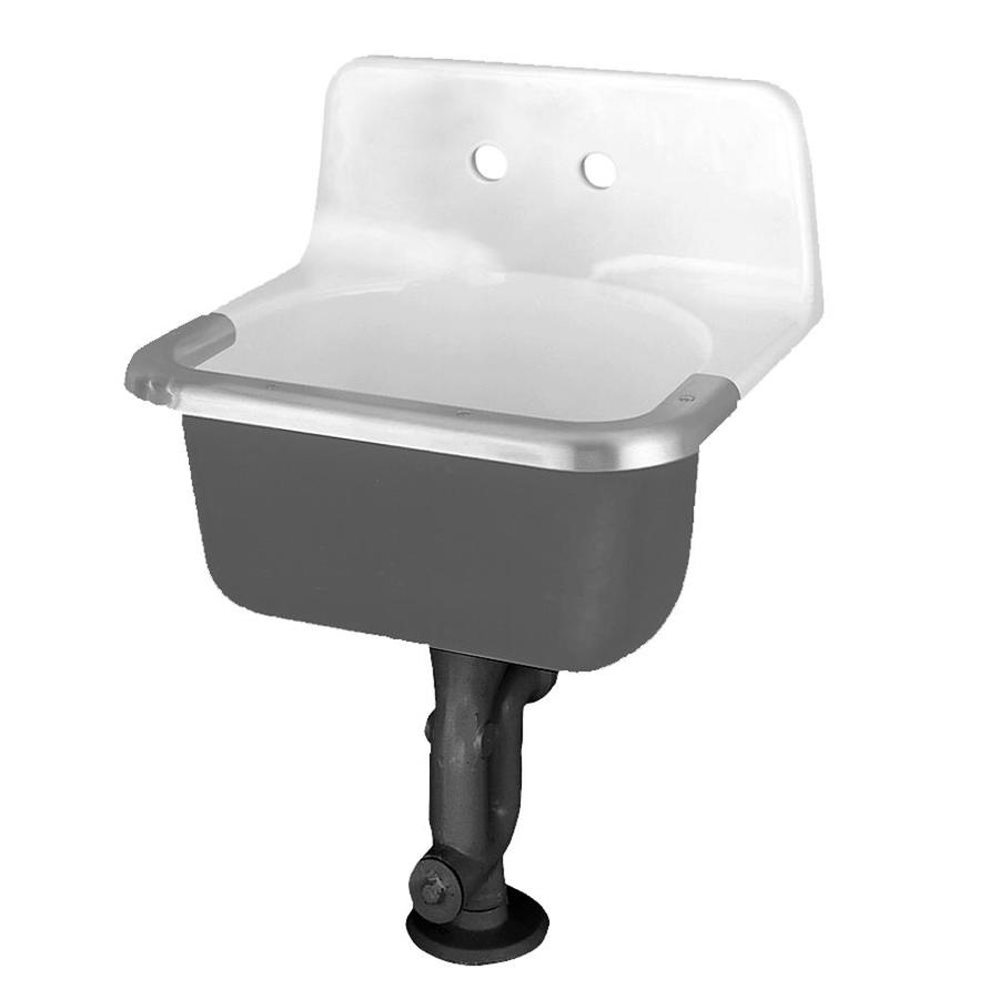 American Standard 24-in x 20.5-in White Wall Mount Cast Iron Laundry Utility Sink