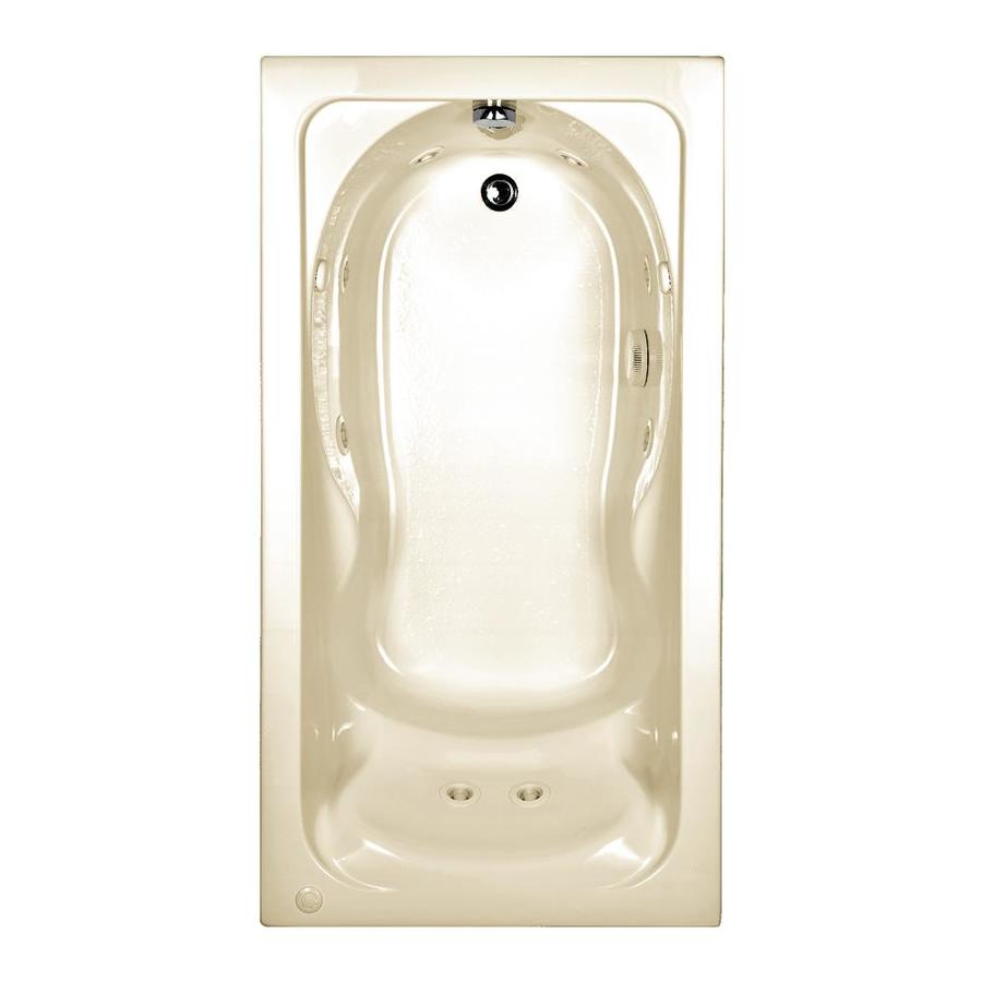 American Standard Cadet Linen Acrylic Rectangular Whirlpool Tub (Common: 31-in x 60-in; Actual: 19.75-in x 31.75-in x 59.88-in)