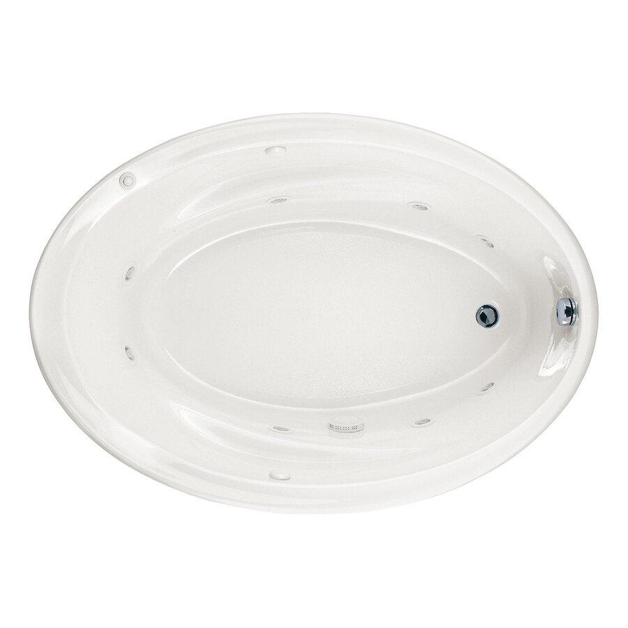 American Standard Savona 2-Person White Acrylic Oval Whirlpool Tub ...