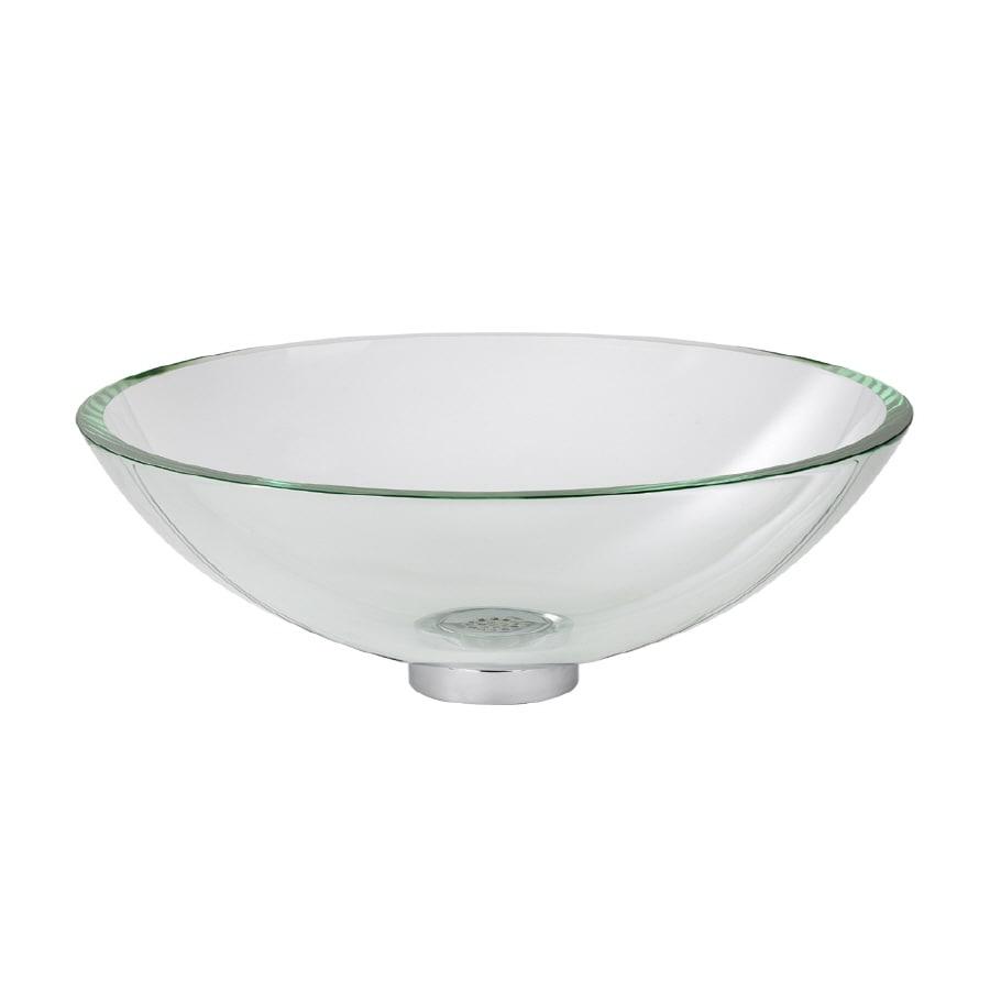 Standard Bathroom Sink : Shop American Standard Dorian Clear Glass Vessel Bathroom Sink (Drain ...
