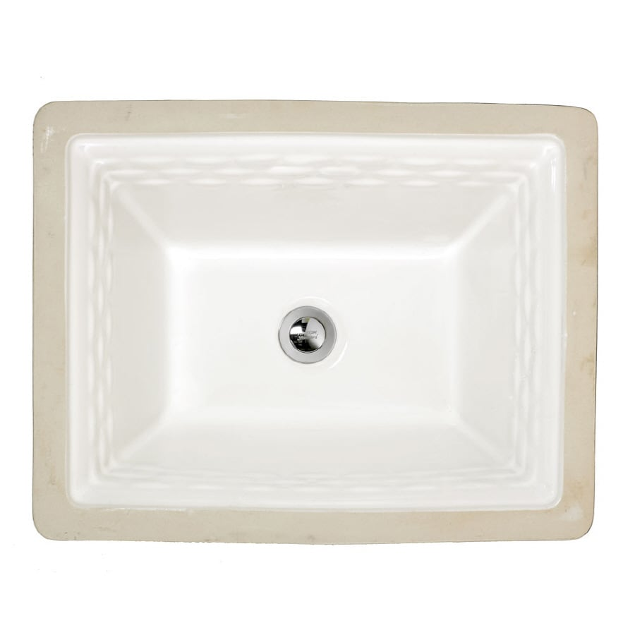 Portsmouth White Undermount Rectangular Bathroom Sink with Overflow Product Photo