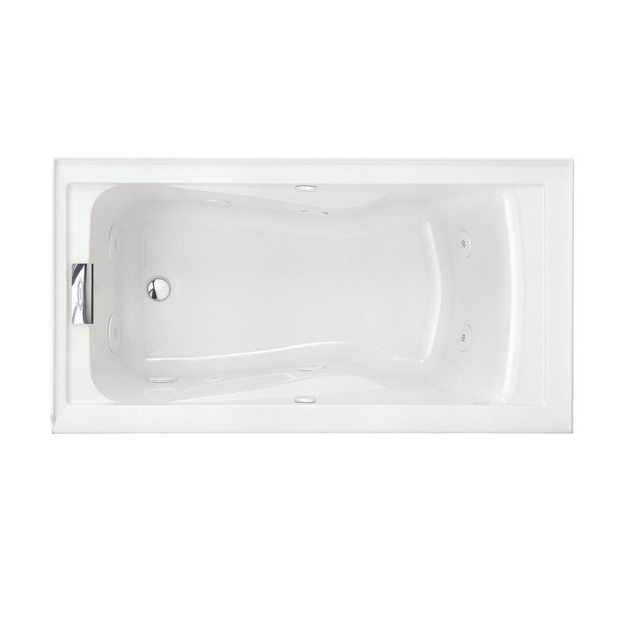 American Standard Evolution White Acrylic Hourglass In Rectangle Whirlpool Tub (Common: 32-in x 60-in; Actual: 21.5-in x 32-in x 60-in)