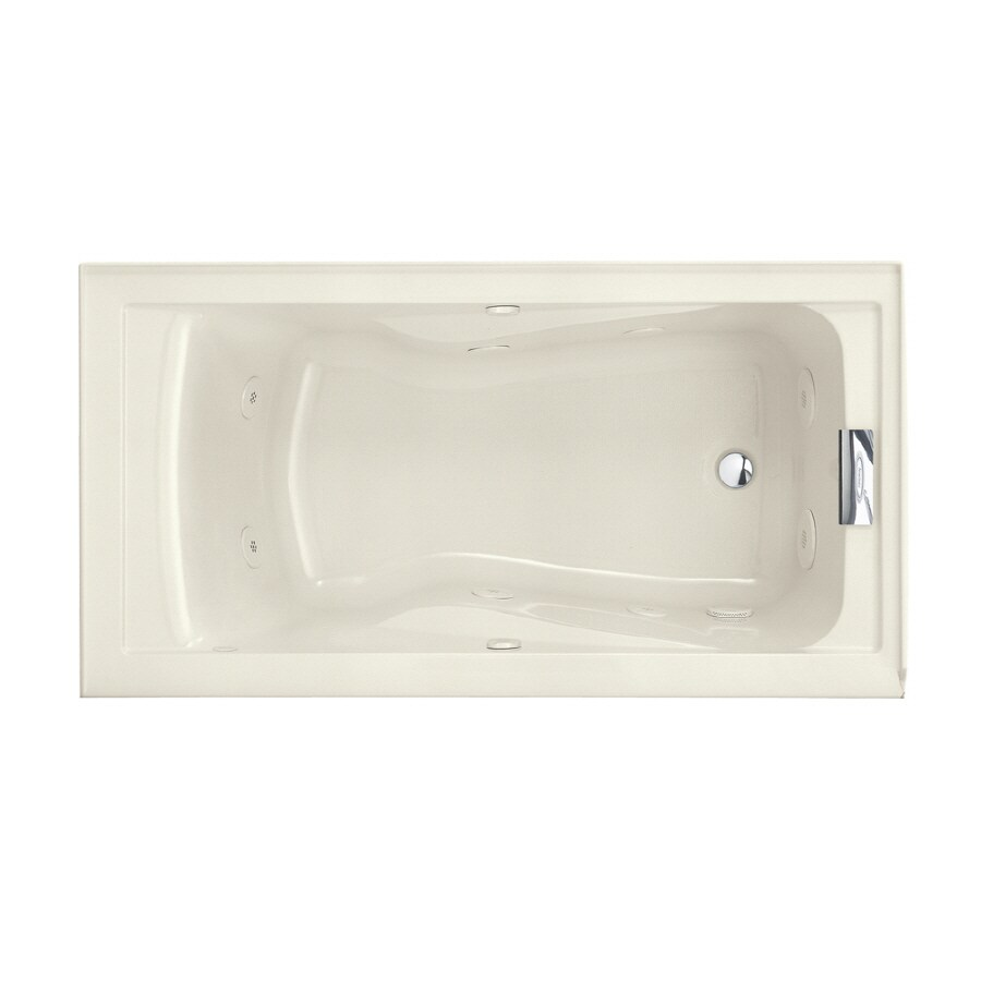 American Standard Evolution Linen Acrylic Rectangular Whirlpool Tub (Common: 32-in x 60-in; Actual: 21.5-in x 32-in x 60-in)