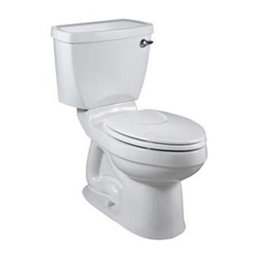 American Standard Champion 4 White 1.6-GPF (6.06-LPF) 12-in Rough-In Elongated 2-Piece Comfort Height Toilet