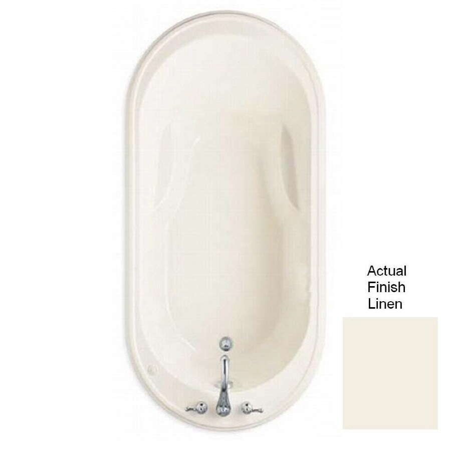 American Standard Heritage Acrylic Oval Drop-in Bathtub with Reversible Drain (Common: 36-in x 72-in; Actual: 21.5-in x 35.75-in x 72-in)