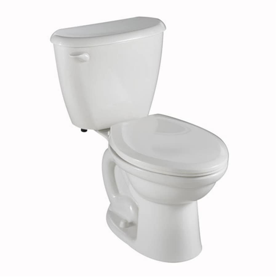 American Standard Colony White 1.6-GPF/6.06-LPF 10-in Rough-in Elongated 2-Piece Standard Height Toilet