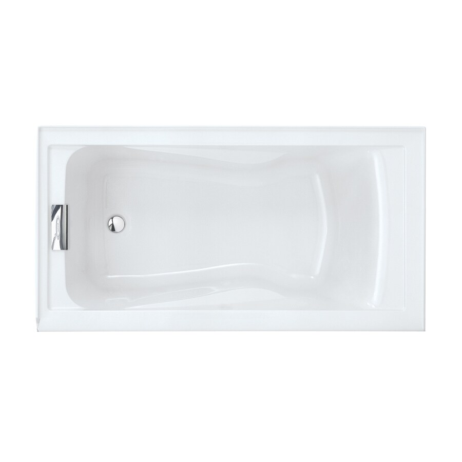 American Standard Evolution Acrylic Rectangular Skirted Bathtub with Left-Hand Drain (Common: 32-in x 60-in; Actual: 21.5-in x 32-in x 60-in)