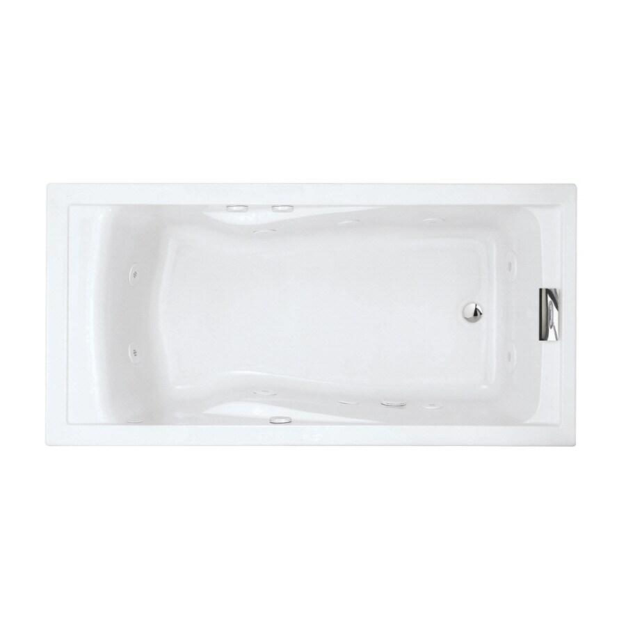 American Standard Evolution Arctic Acrylic Rectangular Whirlpool Tub (Common: 36-in x 72-in; Actual: 21.25-in x 36-in x 72-in)