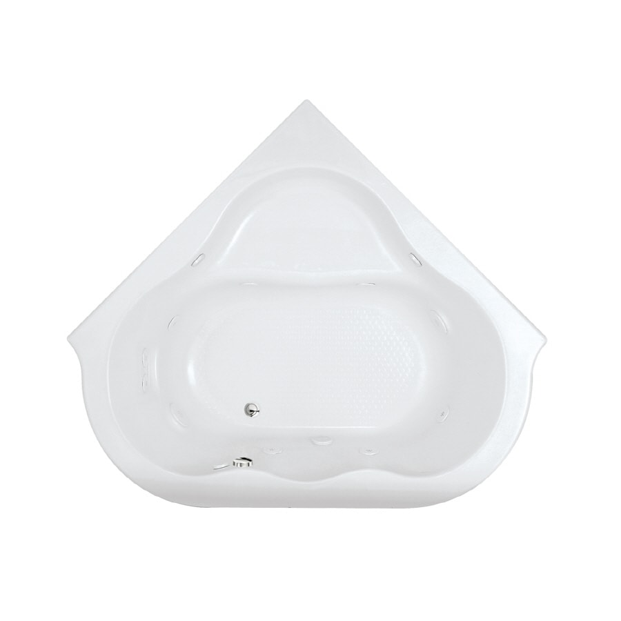 American Standard Evolution 2-Person Arctic Acrylic Corner Whirlpool Tub (Common: 65-in x 76-in; Actual: 21.5-in x 65.38-in x 76.75-in)