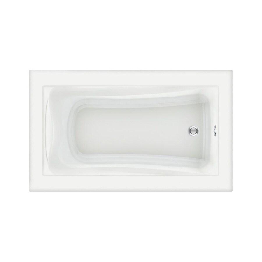 American Standard Green Tea Acrylic Rectangular Drop-in Bathtub with Reversible Drain (Common: 36-in x 60-in; Actual: 21-in x 36-in x 60-in)