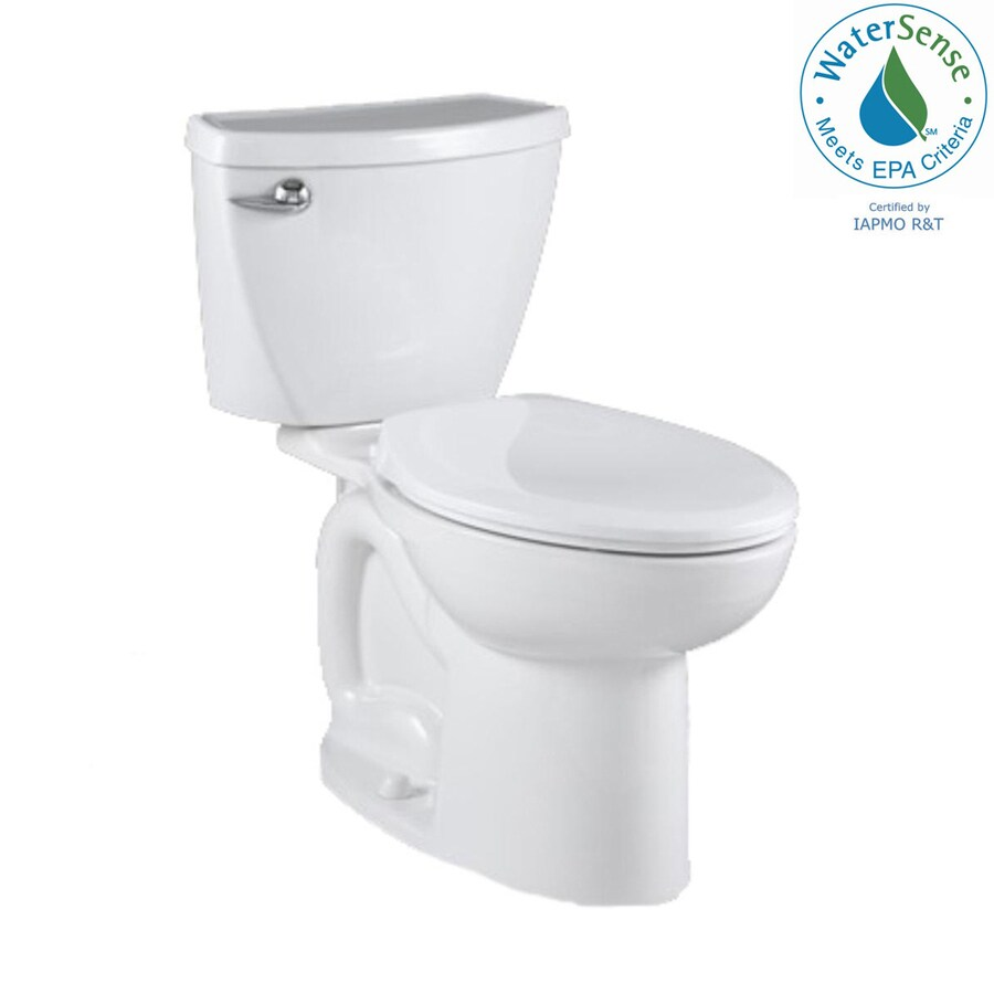 American Standard Cadet 3 White 1.28-GPF (4.85-LPF) 12 Rough-In WaterSense Elongated 2-Piece Standard Height Toilet