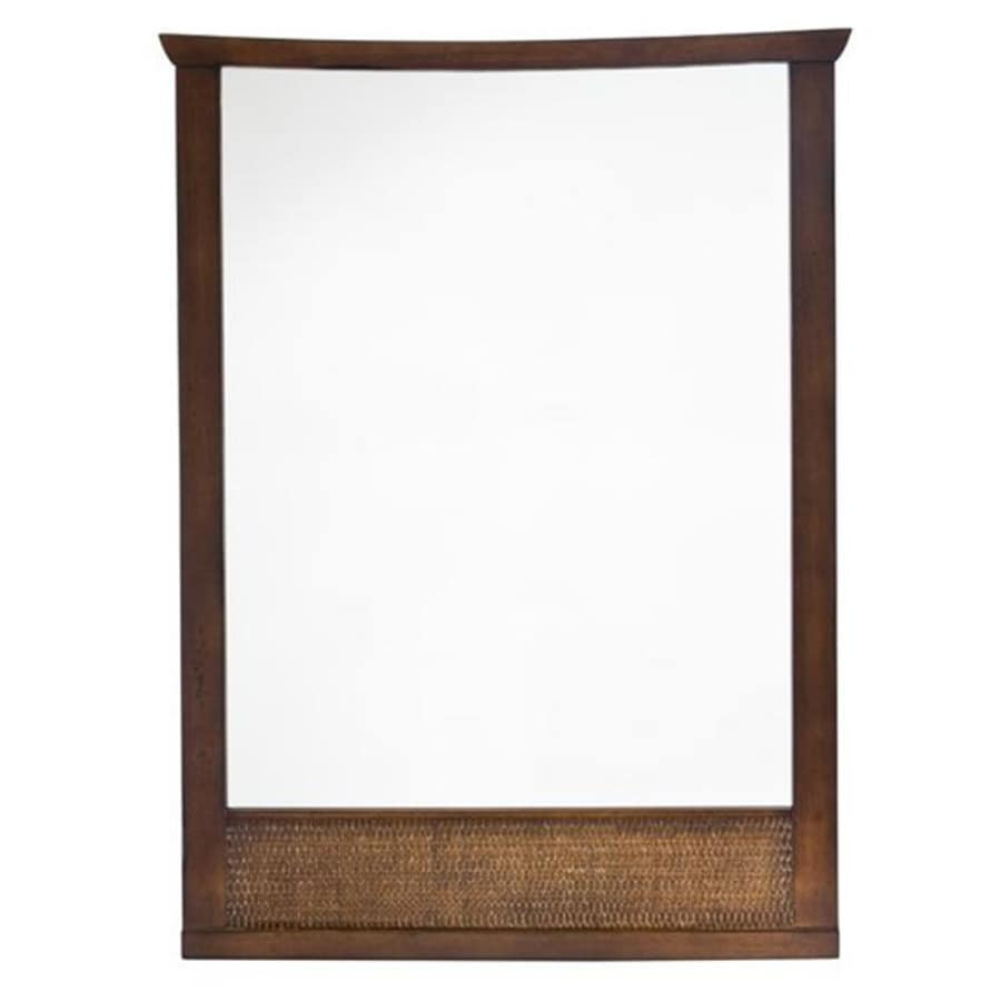 American Standard 31-in H x 23-1/4-in W Tropic Nutmeg Rectangular Bathroom Mirror