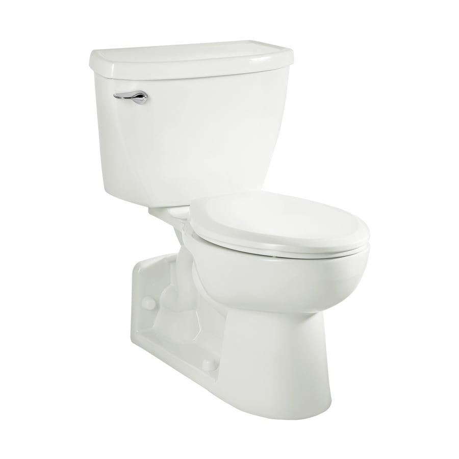 American Standard Yorkville White 1.1-GPF (4.16-LPF) 12-in Rough-In WaterSense Elongated Pressure Assist 2-Piece Standard Height Toilet